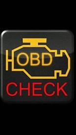 Vehicle diagnose. Faults check.