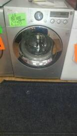 LG 8KG 1200 SPIN WASHING MACHINE IN SILVER