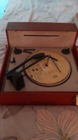 very old vintage record player