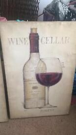 Large Red Wine Canvas