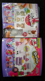 2 x POPPIT SHOPKINS AND MINI PUPPIES PLAY SETS ACCESSORIES FOR AIR DRYING CLAY