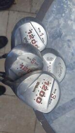 selection of 4 Golf Clubs 1 x Callaway Big Bertha and 3 Wilsons