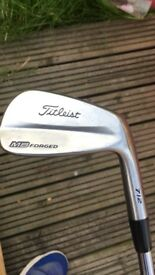 Selling my titleist 712mb irons,Vokey wedges,titleist driver,sketcher shoes,Zebra putter & bag!