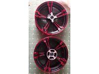 Honda MSX 125 red and black wheels