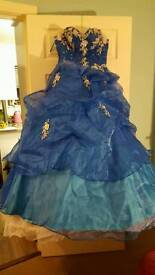 Royal Blue 'statement'/costume/themed dress & accessories
