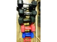 1-5 KG PAIRS OF DUMBBELLS JOB LOT