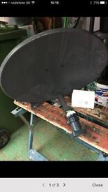 Camping satellite dish & free view box