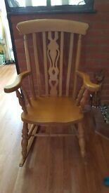 Gorgeous wooden rocking chair