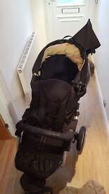 All terrain 3 wheel Push chair Jane Slalom 3 versions