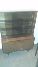 SUTCLIFFE DISPLAY CABINET IN DARK WALNUT