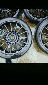 """18""""alloys with tyres"""