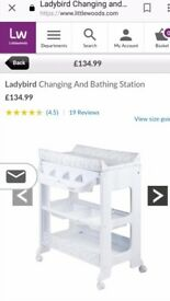 Quick Sale Ladybird Changing & Bathing Station