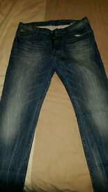 "G-Star Raw ""Blades"" Tapered Jeans W36 L34 Excellent Condition"