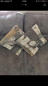Grey cord sofa 3 seater