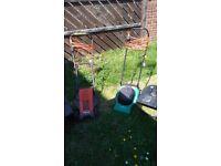 2 Lawnmowers Flymo and Gardenline broken