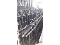 Cast Iron Black Hooped Railings
