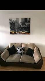 Single 2 seater sofa