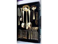 Bestecke and solingen 23/24 carat gold 71 piece cutlery set