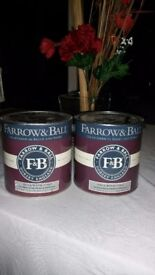 VARIOUS COLOURS IN FARROW & BALL EGGSHELL AND UNDERCOAT/PRIMER