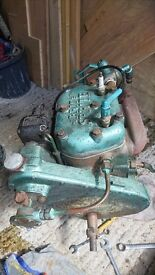 BRIT 2 Cylinder 10hp boat marine inboard petrol engine and gearbox for spares