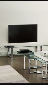 NEXT Glass and Chrome Tv Unit ( as good as new)