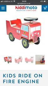 Kiddimoto ride on fire engine