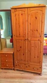 Wardrobes, chest of drawers and bedside unit
