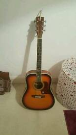 Lindo Black Sunburst Electric Acoustic Guitar