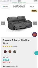 Two three seater manual recliners