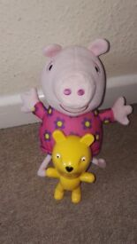 Peppa pig hide and seek play toy with teddy