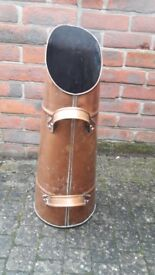 Copper coal scuttle. Good condition. Height: 60cm. Collect Lymington.