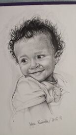 PORTRAITS FROM 15£ ! (Half of A4) A4 from 25£ ! EXPERIENCED PORTRAIT ARTIST! 100% HANDMADE!!