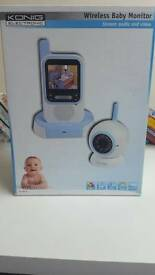 Konig electronics wireless baby monitor stream audio and video
