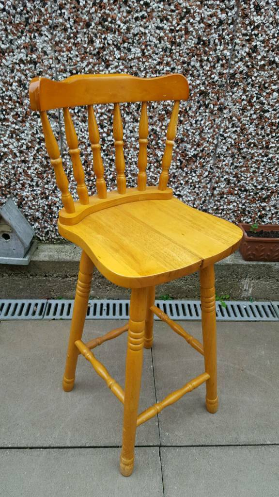 Solid pine bar stool