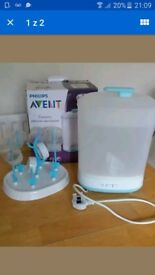Philips sterilizer with bottles and dryer