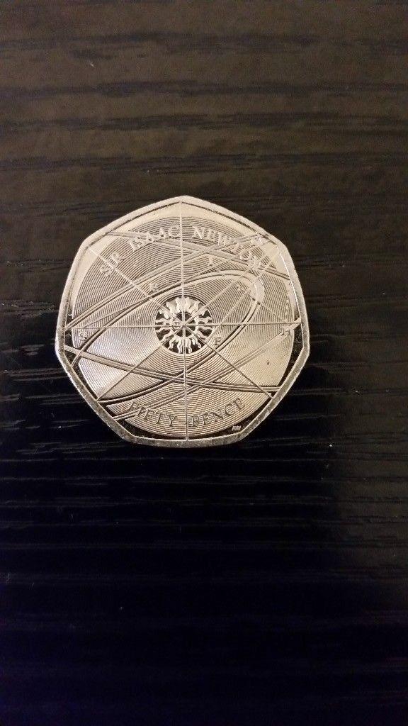 Super rare Isaac Newton 50p