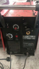 Mightymig 190 Mig Welding Machine not working Spares or repairs