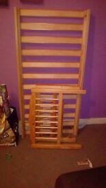 Wooden slatteed todldler bed