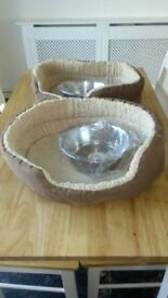 £10 for all... Two Dog beds and two bowls