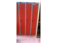 3 section PROBE red locker unit with keys