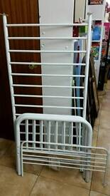 Child bed metal L140cm W70cm white never been used