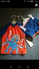 12-18 month 2 piece swimming outfit