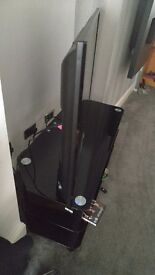 Flat screen Tv. And Tv trolley