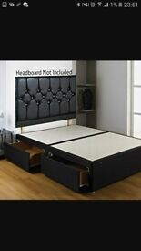 New double bed base and 2 drawers
