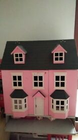 large Pink toy house suitable for children