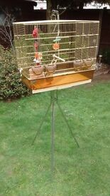 Large birdcage and stand