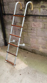 Boat Boarding Ladder - Hook-on type with Wooden Rungs