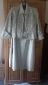 Beautiful gold embellished 3 piece mother of the bride or groom outfit size 14