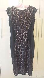 Dorothy Perkins black lace dress: Size 14