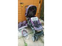 garco double pushchair buggy good condition